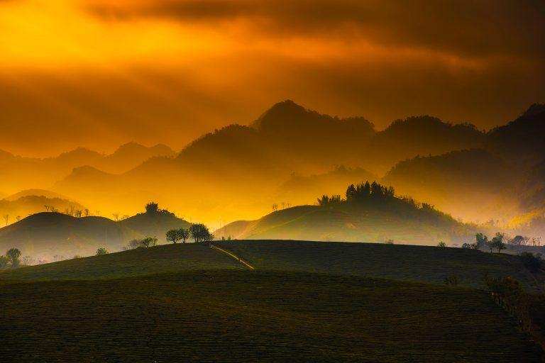 Vietnam Sonnenuntergang