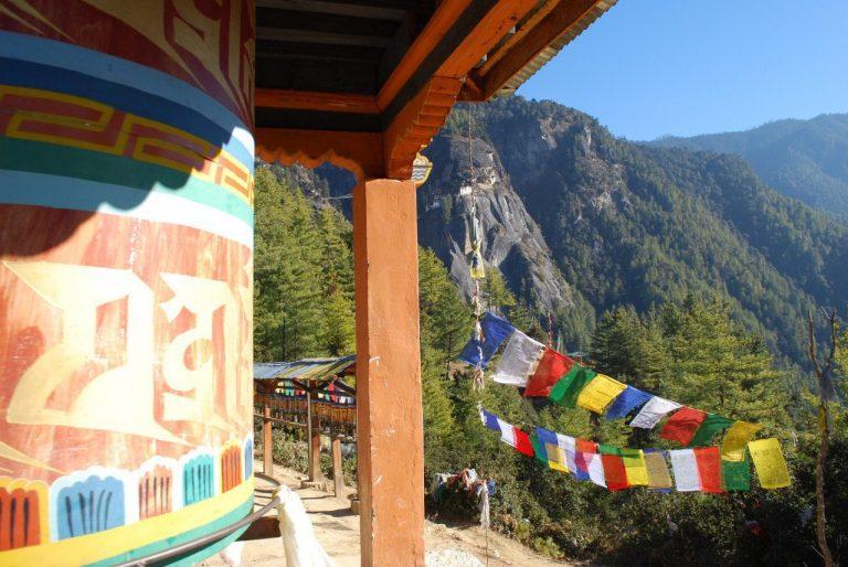 Bhutan riesen Gebetsmuehle