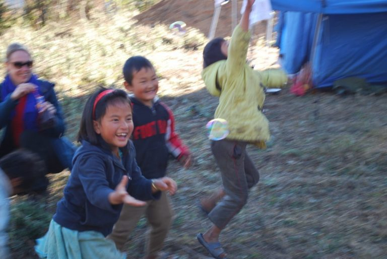 Bhutan - spielende Kinder