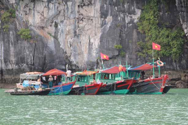 Vietnam - Dorf in der Halong-Bucht