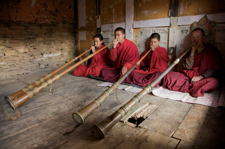 Bhutan Mönche