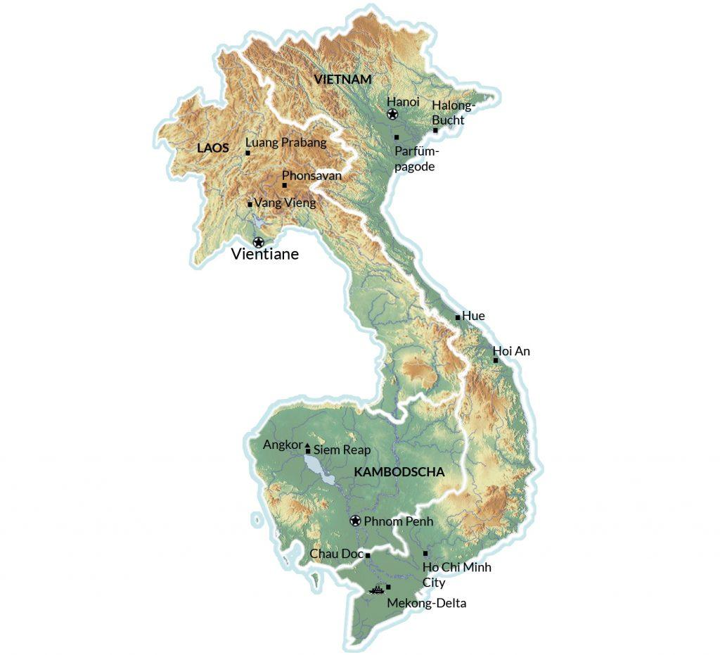 Indochina Karte