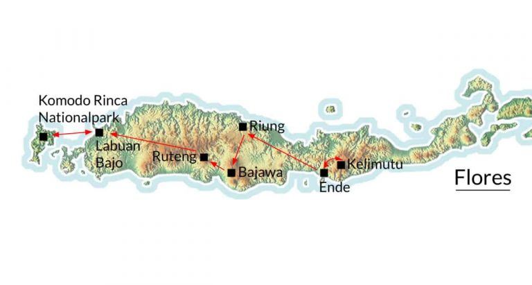 Flores Komodo Karte