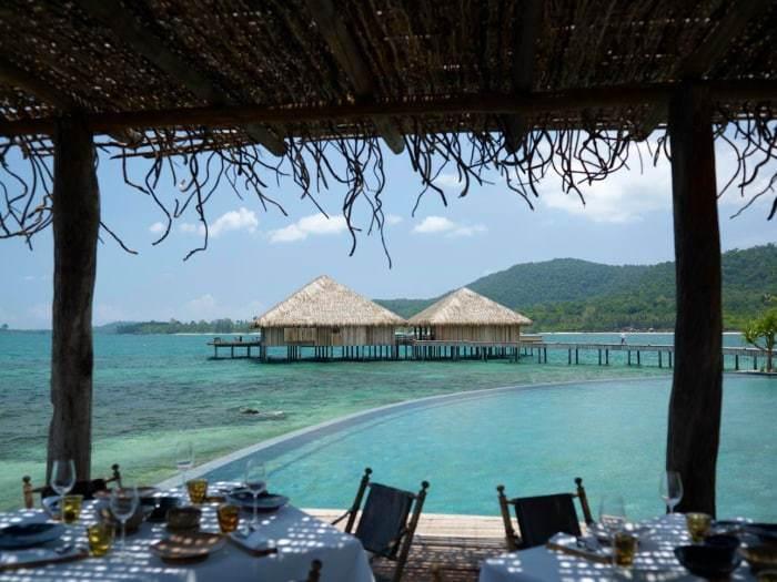Pool-Restaurant auf Song-Saa - Kambodscha