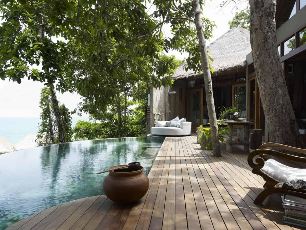 Kambodscha - Song Saa - Veranda der Overwater Villa