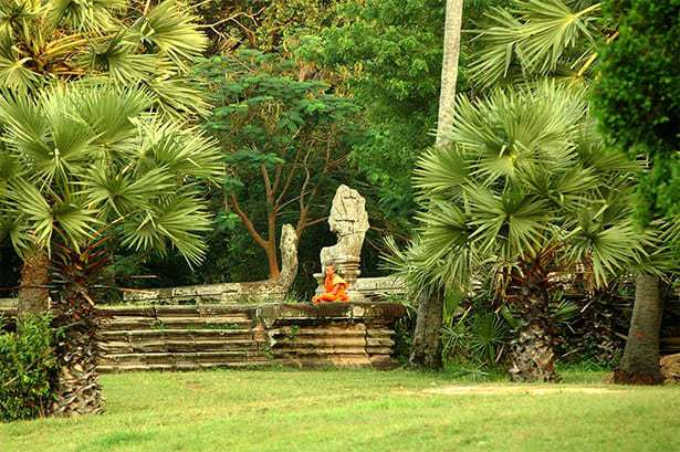 Meditieren in Kambodscha