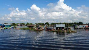 Kambodscha Meer Schwimmende Häuser
