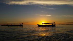 Kambodscha Sonnenuntergang
