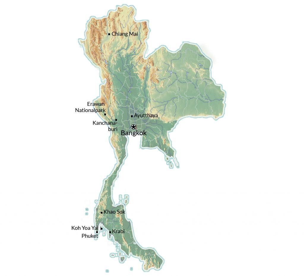 Thailand Karte