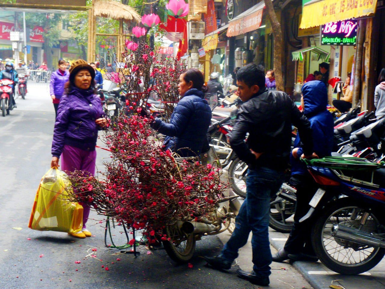 Vietnam - Hanoi - Blumenmarkt