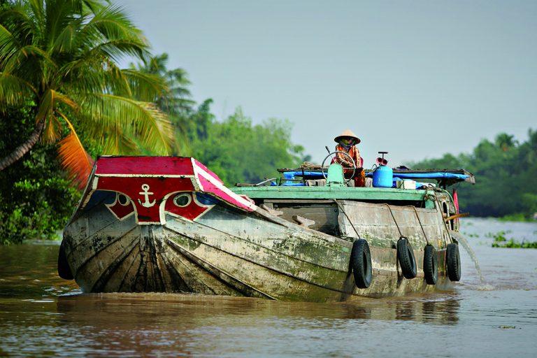 Mekong Delta Reisschiff