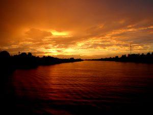 Mekong Delta Sonnenuntergang