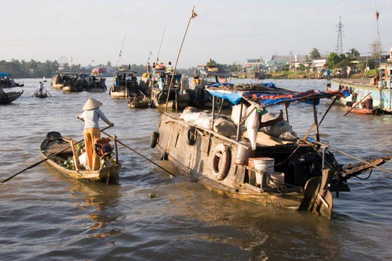 Mekong Delta Schwimmender Markt