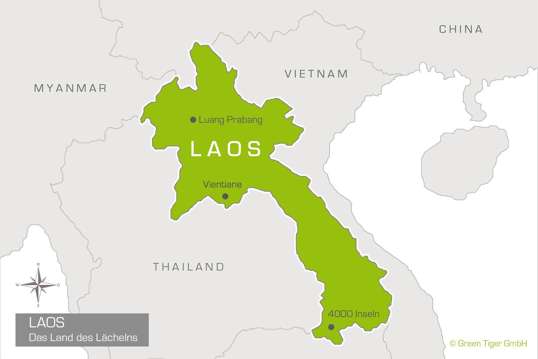 Laos Landkarte