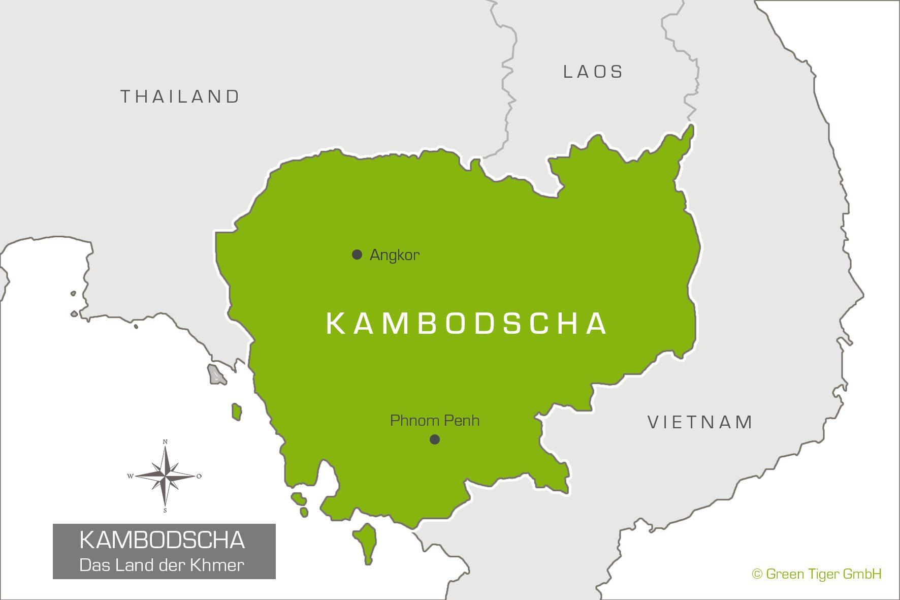 Kambodscha Karte.Spezialist Fur Individualreisen Kambodscha Green Tiger Travel