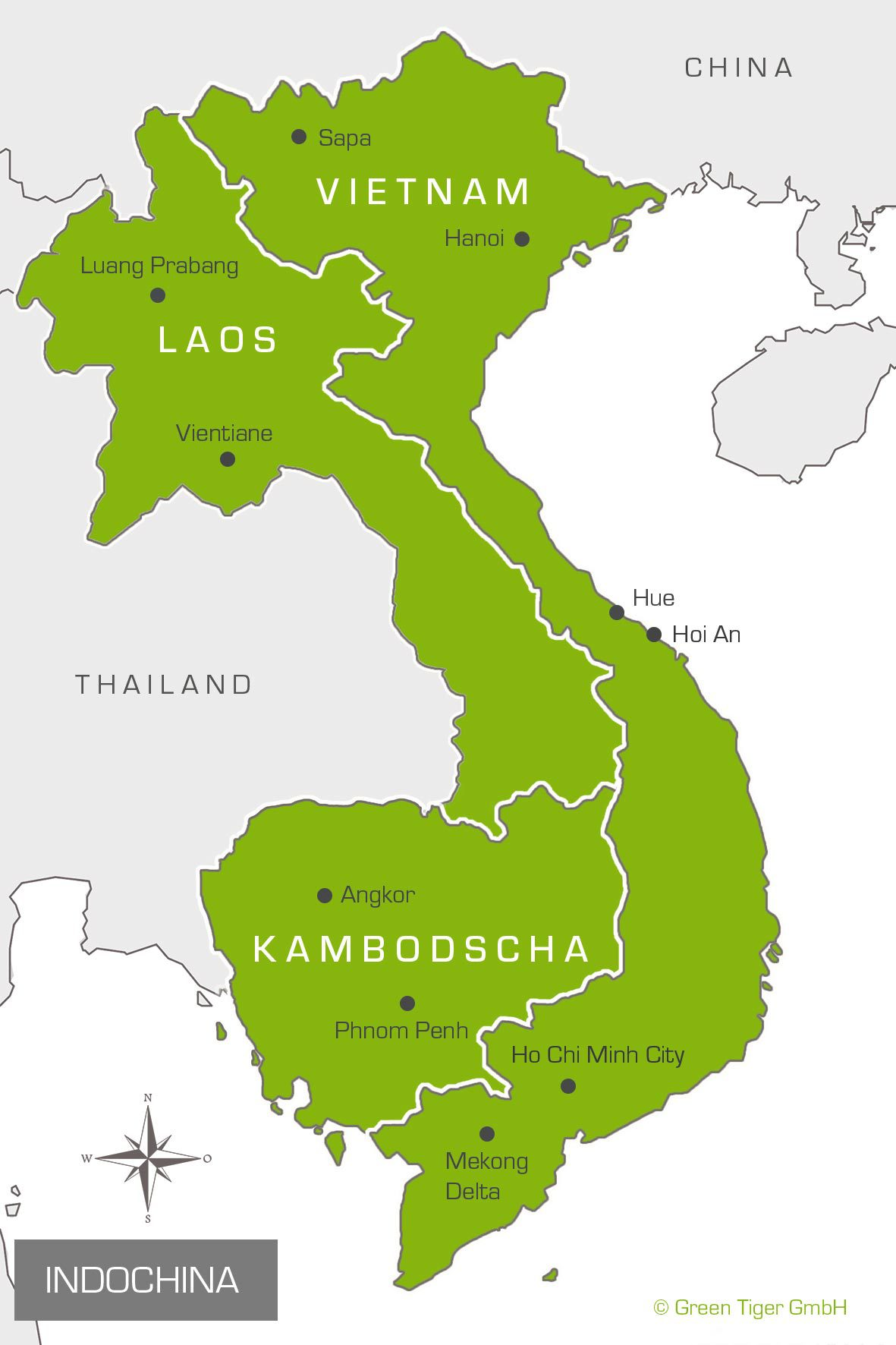 Karte Indochina