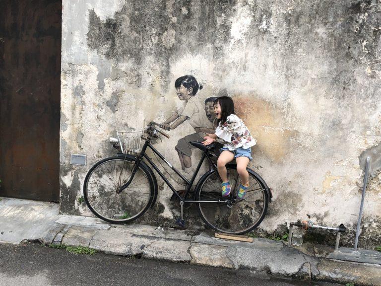 Penang Streetart Fahrrad