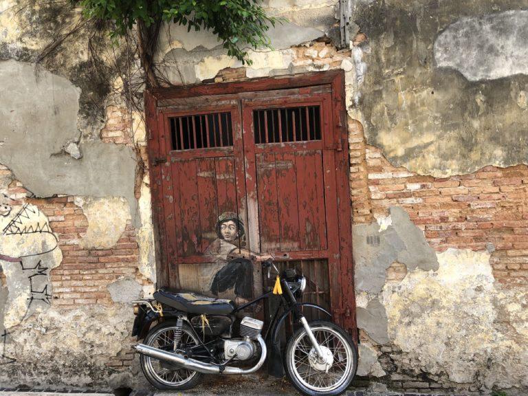 Penang Streetart Motorrad