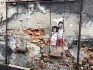 Penang Streetart Schaukel