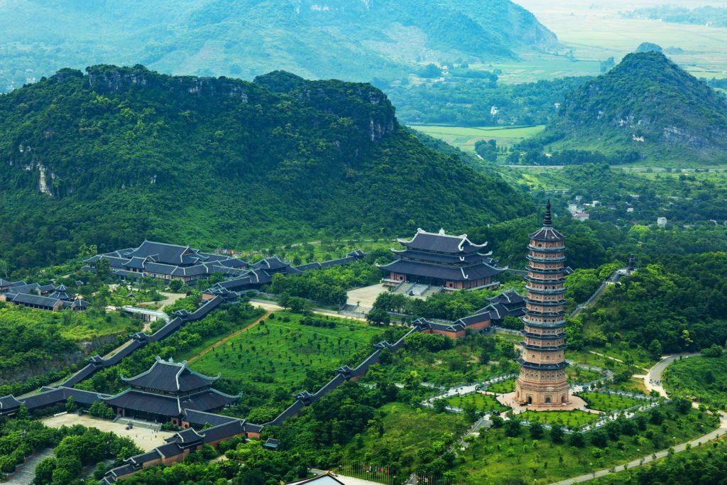 Vietnam Bai Dinh Luftansicht