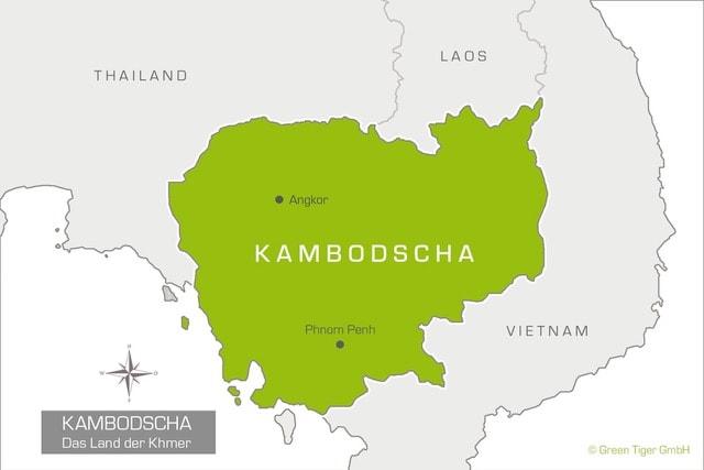 Karte Kambodscha