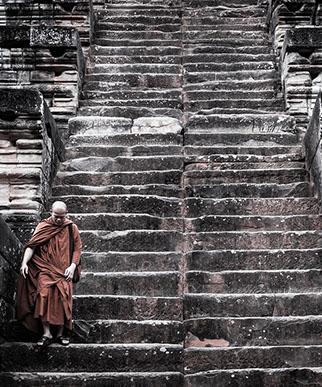 Kambodscha Georgia Ortner Bildband Augenblicke Mönch