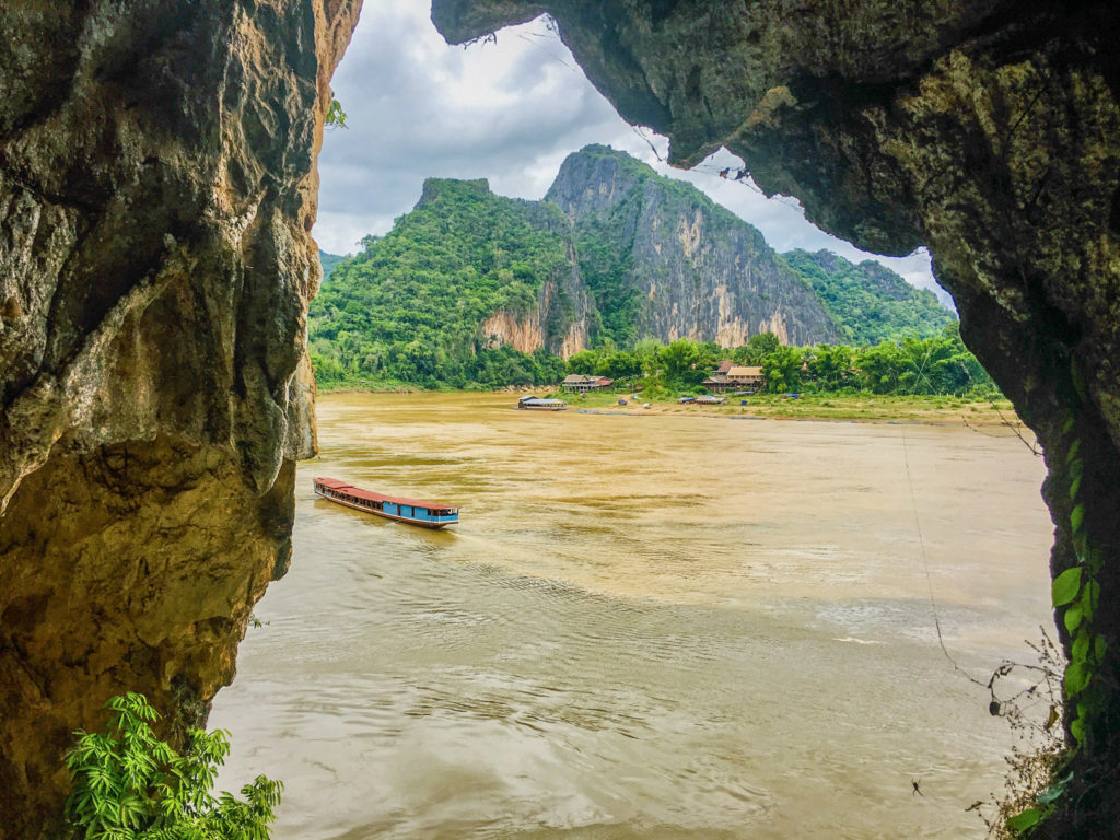 Nordlaos Schiff auf Mekong