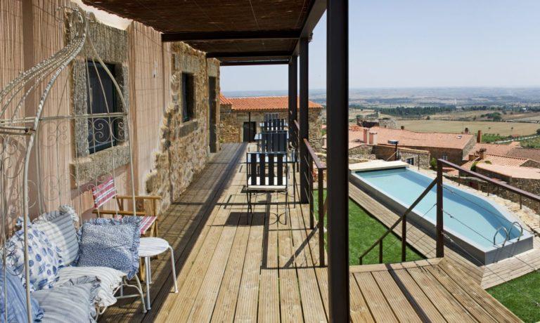Portugal Castelo Rodrigo Casa da Cisterna Blick