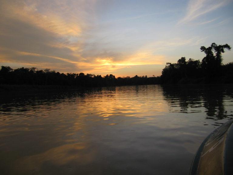 Malaysia Kinabatangan Sonnenuntergang